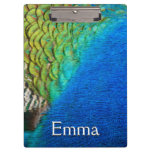 Peacock Feathers IV Colorful Nature Design Clipboard