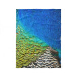 Peacock Feathers IV Colorful Nature Design Fleece Blanket