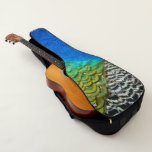Peacock Feathers IV Colorful Nature Design Guitar Case