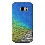 Peacock Feathers IV Colorful Nature Design Samsung Galaxy S6 Case
