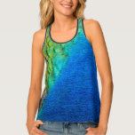 Peacock Feathers IV Colorful Nature Design Tank Top