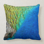 Peacock Feathers IV Colorful Nature Design Throw Pillow