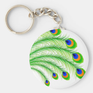 Peacock Feathers Key Chain