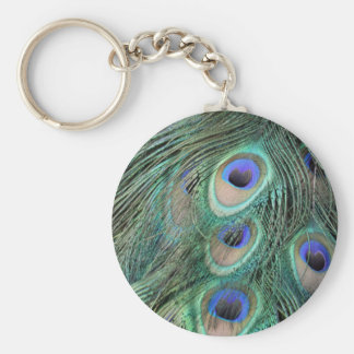 Peacock Feathers Keychain