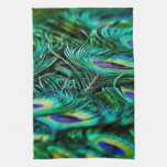 Peacock Feathers Kitchen Towels
