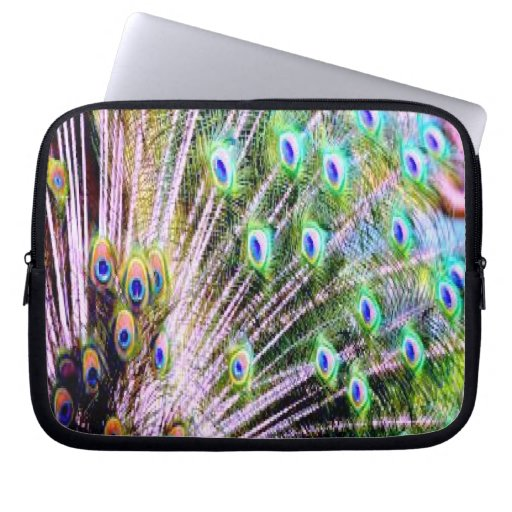 Peacock Feathers Laptop Sleeve