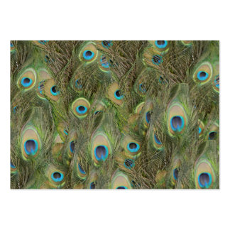 Peacock Feathers Large Business Card