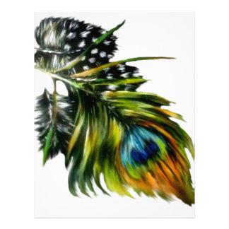 Peacock Feathers Letterhead