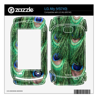 Peacock Feathers LG Ally (VS740) Skin Decal For The LG Ally