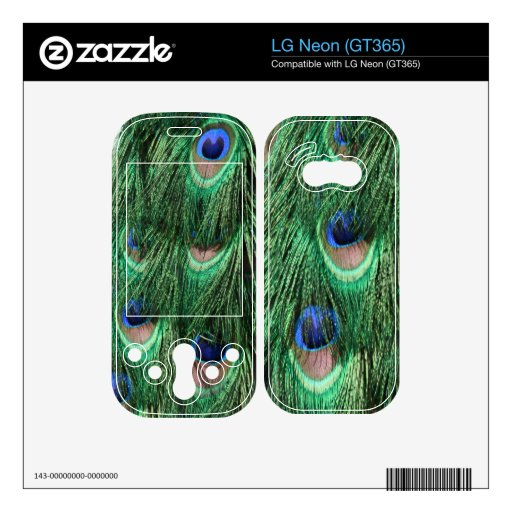 Peacock Feathers LG Neon (GT365) Skin Skins For The LG Neon