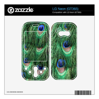Peacock Feathers LG Neon GT365 Skin Skins For The LG Neon