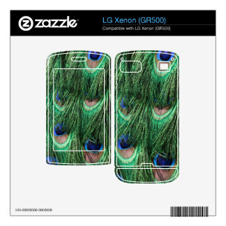 Peacock Feathers LG Xenon (GR500) Skin Decal For LG Xenon