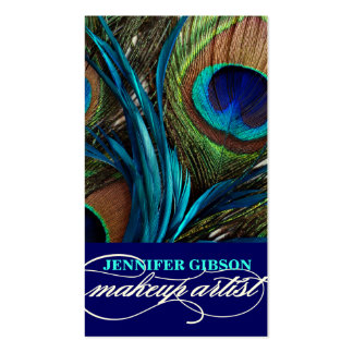 Peacock Feathers   Make-Up Artist Business Cards