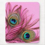 Peacock Feathers Mousepad