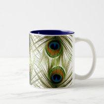 Peacock Feathers Mug