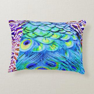 Peacock Feathers Multi Colors Decorative Pillow