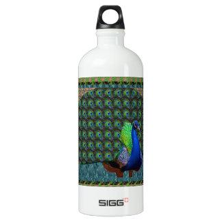 Peacock Feathers National Bird of India Krishna 99 Aluminum Water Bottle
