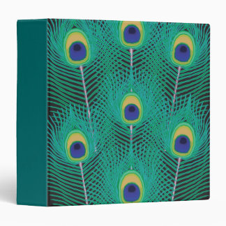 peacock feathers notebook 3 ring binder