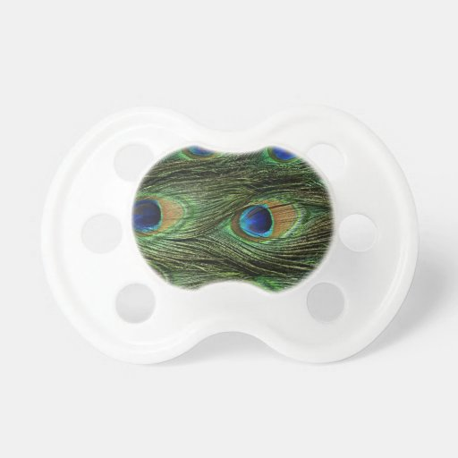 Peacock Feathers Pacifier