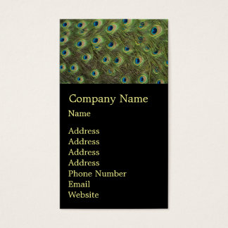 Peacock Feathers Pattern Business Card