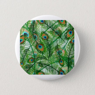 Peacock feathers pattern button