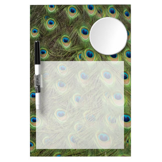 Peacock Feathers Pattern Dry-Erase Whiteboard