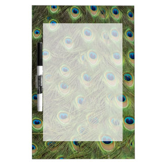 Peacock Feathers Pattern Dry-Erase Whiteboards