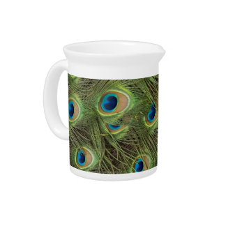 Peacock Feathers Pattern Pitcher