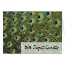 Peacock Feathers Pattern Sympathy Card