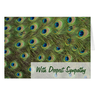Peacock Feathers Pattern Sympathy Greeting Card