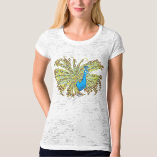 Peacock Feathers Pen and Ink Womens Shirt
