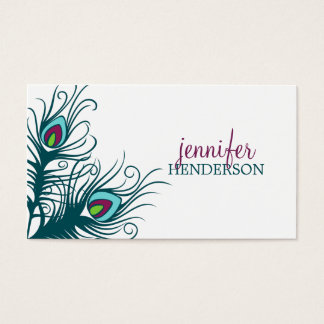 Peacock Feathers Personal Calling Card