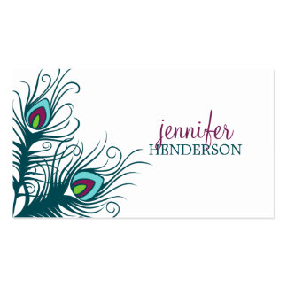 Peacock Feathers Personal Calling Card Business Card