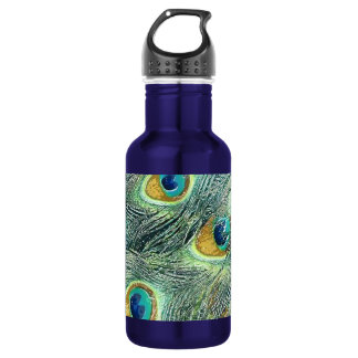 PEACOCK FEATHERS 18OZ WATER BOTTLE