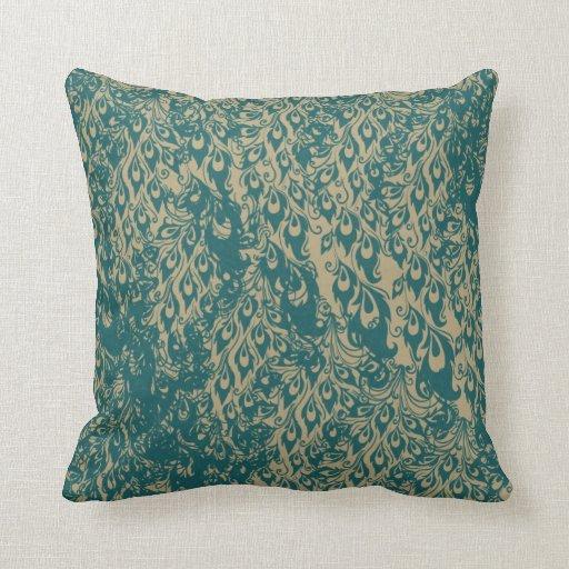 Throw Pillows Peacock : Peacock Feathers Pillow
