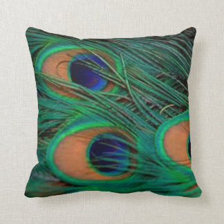 Peacock Feathers Pillow