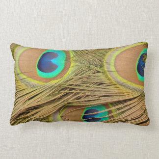 Peacock Feathers Throw Pillows