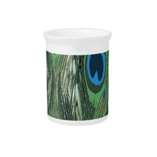 Peacock Feathers Pitcher