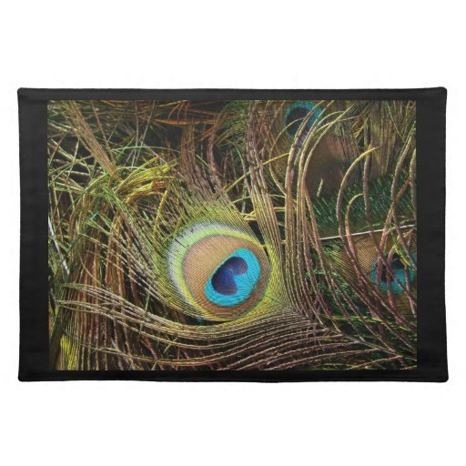 Peacock Feathers Place Mat