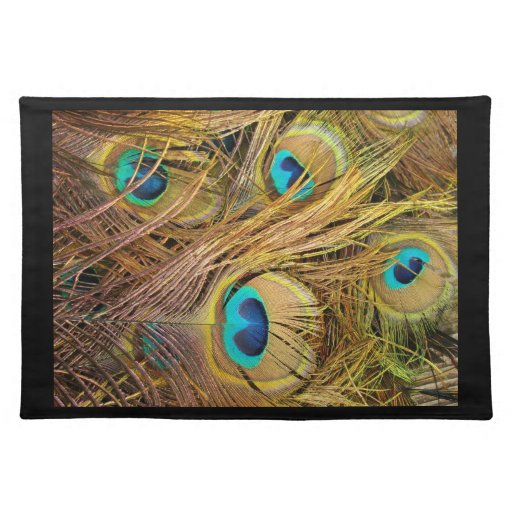 Peacock Feathers Place Mat Cloth Placemat