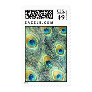 PEACOCK FEATHERS POSTAGE STAMPS