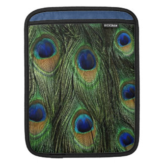 Peacock Feathers Print iPad Sleeve