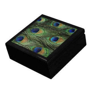 Peacock Feathers Print Jewerly Box