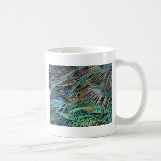 Peacock Feathers Rainbow Colors Coffee Mug