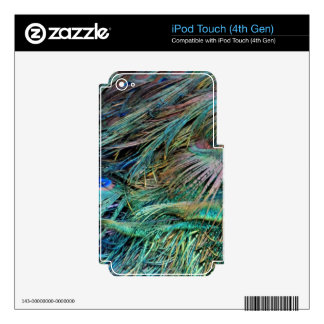 Peacock Feathers Rainbow Colors iPod Touch 4G Skin