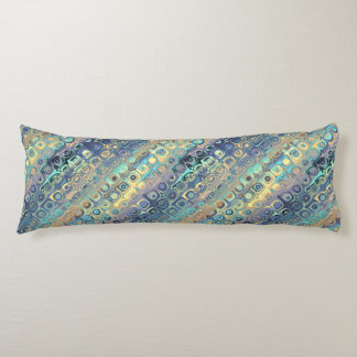 Peacock Feathers Retro Abstract Body Pillow
