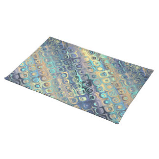 Peacock Feathers Retro Abstract Cloth Placemat
