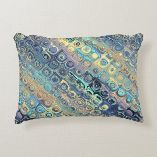 Peacock Feathers Retro Abstract Decorative Pillow