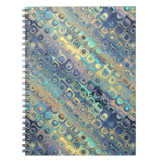Peacock Feathers Retro Abstract Notebook