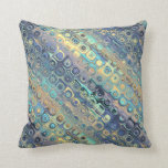 Peacock Feathers Retro Abstract Pillows